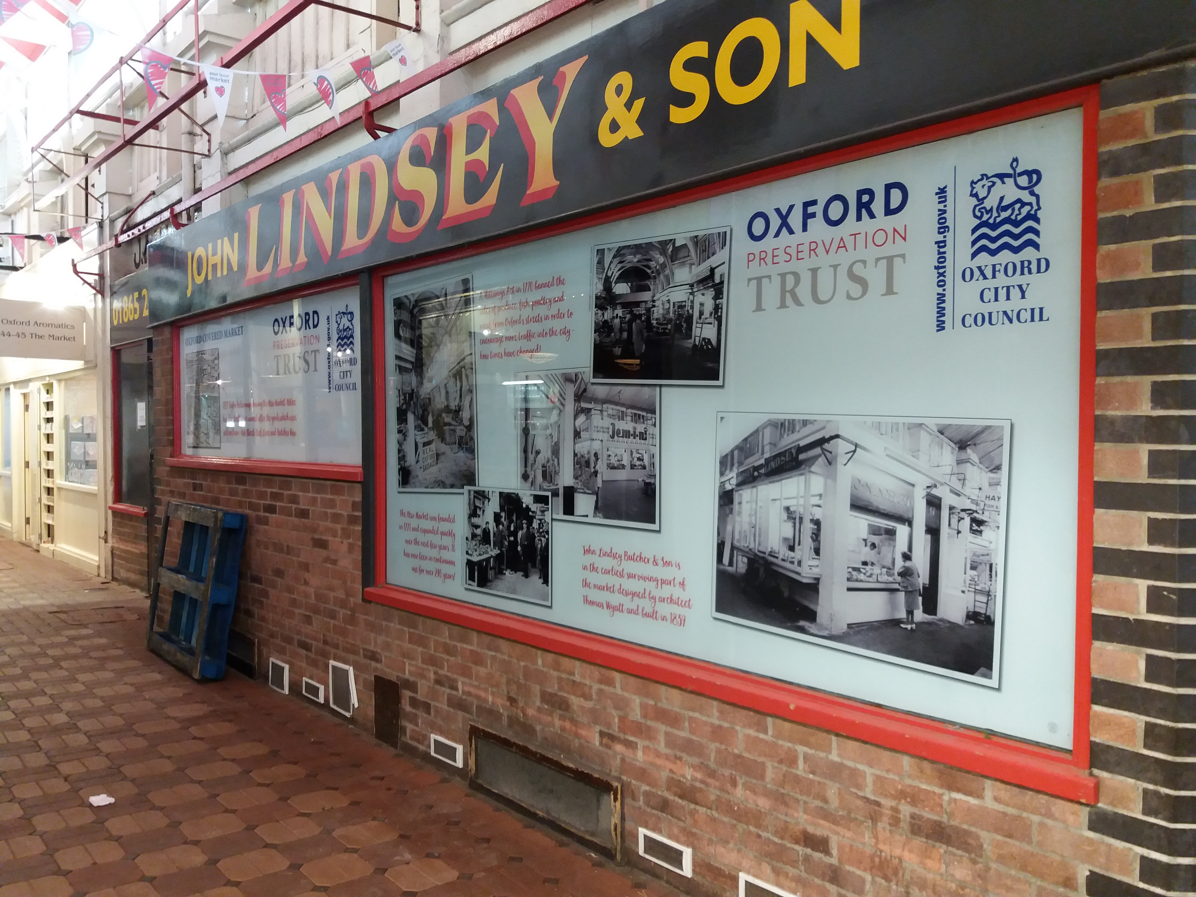 External view of the Lindseys Unit with vinyls