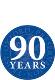 90 years roundel blue