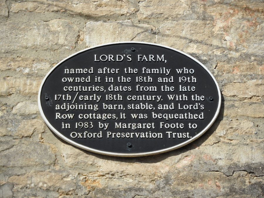 Lords Farm Plaque