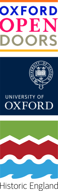 Oxford open doors, Oxford uni and historic England logos