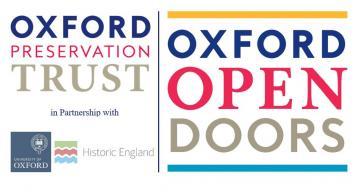 Oxford open doors, Oxford uni and historic England logos